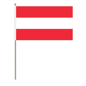 Austria Country Hand Flag, large.